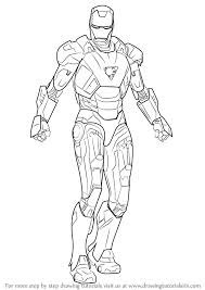Learn How To Draw Iron Man Step By Drawing Tutorials