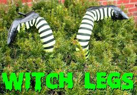 Outdoor Halloween Decorations Diy by Diy Crashed Witch Legs For Outdoor Halloween Decor
