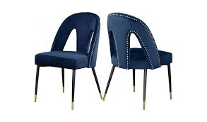 Akoya Navy Blue Velvet Dining Chairs (Set Of 2) By Meridian Furniture Fairy Contemporary Fabric Ding Chairs Set Of 2 Navy Blue Shelby Chair In Channel Tufted Velvet By Meridian Fniture Hanover Mcer 5piece Patio With 4 Cushioned And A 40inch Square Table Mercdn5pcsqnvy Colston Silver Leaf Including Brookville Harley Traditional Microfiber Details About Bates New Opal Room Gold William