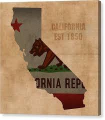 California State Flag Canvas Print