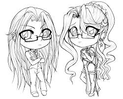 Cute Girl Coloring Pages 20 Chibi For Kids