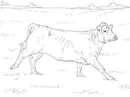 Running Cow Coloring Page
