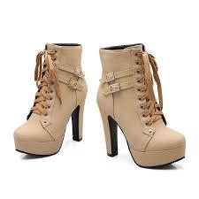 amazon com susanny women autumn round toe lace up ankle buckle