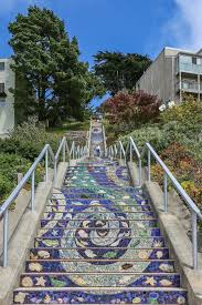 16th Avenue Tiled Steps Project by Amazing Moraga Street Mosaic Steps Mapio Net