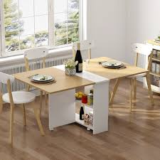 Tribesigns Folding Dining Table, 6 Wheels Movable Dinner Table, Extendable  Table With Cabinets, Home Kitchen Furniture Decor Lunch/Computer Desk ... Fniture Unbelievable Cool Seagrass Ding Chairs With Rh Modern Homepage Leikela Papaya Medley Tropical Set Round Table For 6 Visual Hunt Room Walker Las Vegas Bernhardt Club Room Ideas Five Piece Gaming Lifttop And Chair By Hillsdale Welcome Dinettes Unlimited Interior Design Ideas House Of Hipsters Padmas Plantation Sandspur Beach Arm Casters Chalk Paint Kitchen