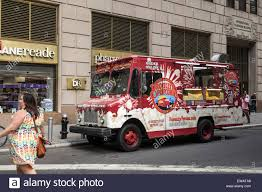 Food Truck, Selling Popcorn ,in Financial District Of Manhattan, New ...