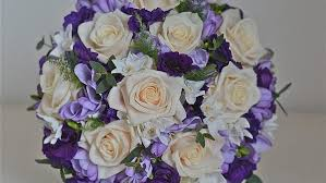 Lovely Purple Blue Silver Wedding Colors