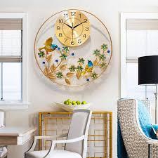 großhandel 50cm malerei wanduhr blume metall stille uhr wanduhren wohnzimmer schlafzimmer bester verkauf topprettymall 66 97 auf de dhgate