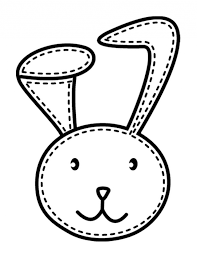 Stitched Bunny Coloring Page 242324 Face