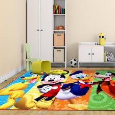 Disney Mickey Mouse Multicolor Polyester Kids Rug by Gertmenian 4
