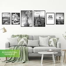 calias premium poster set new york schwarz weiß wohnzimmer