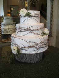White Rustic Wedding Cake