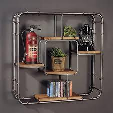 intashj deko wandregal iron industrial style wand hängen regal wand schlafzimmer retro wohnzimmer dekoration bücherregal