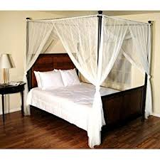 Amazon Epoch Hometex Palace Four Poster Bed Canopy White