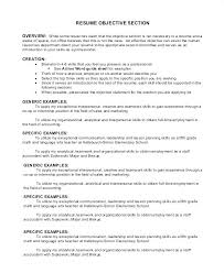 The Perfect Resume Objective Good Format Section Statement Communications Statements For Customer Service