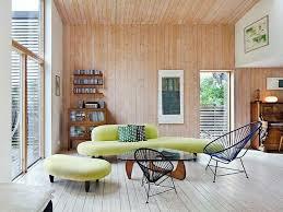wohnzimmer wandgestaltung ideen interaktion zwischen holz