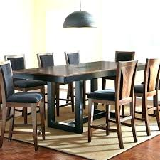 Espresso Dining Table Set Room Silver Black And