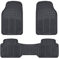 BDK Heavy-Duty 4-piece Front And Rear Rubber Car Floor Mats, All ...