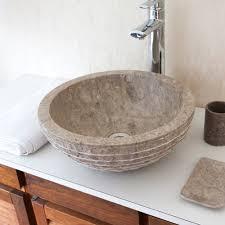 vasque marbre grise striée salle de bain lavabo évier