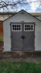 Suncast Vertical Storage Shed Home Depot by Suncast Tremont 8 Ft 4 1 2 In X 10 Ft 2 1 4 In Resin Storage