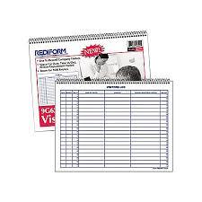 Rediform Visitors Log Book 50 Sheets
