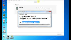 Supportle iphone restore iPhone 5S restore