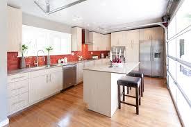 new york brick backsplash tiles kitchen contemporary with white