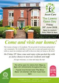 100 The Lawns Open Day Friday 28th June Ascot Care
