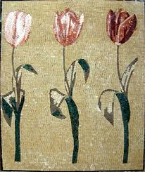 mosaic tile murals for sale details about tulips handmade mosaic