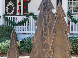 Diy Halloween Tombstones Plywood by How To Make Rustic Nail Head Christmas Trees Hgtv
