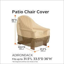 Patio Chair Replacement Slings Amazon by Amazon Com Classic Accessories Veranda Adirondack Patio Chair