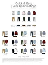 For Guys A Quick Easy Color Combination Guide Mens Clothing