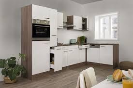 respekta 310x172cm l form küchenzeile mit spüle und geräten eiche york weiß kbl310eyws
