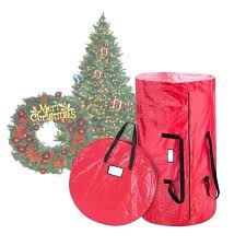 Christmas Tree Storage Bag Elf Deluxe Age And Canvas Wreath Reviews