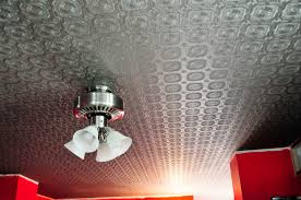 Metallic Tile Effect Wallpaper by My Old Country Home Faux Tin Tile Ceiling Reveal