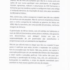 Veja A íntegra Da Carta De Renúncia De Azeredo
