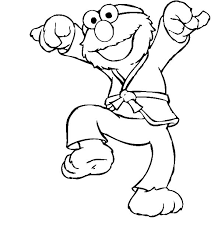 Elmo Karate Kids Coloring Pages