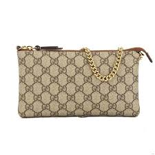 trousse de toilette gucci gucci gg supreme canvas wrist wallet new with tags 3626016
