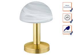 touch nachttischlen gold mit glasschirm dimmbare led le fürs schlafzimmer