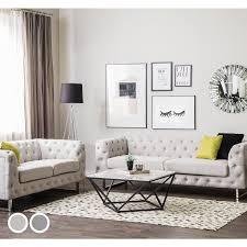 Viland Fabric Living Room Set Beige Or Grey