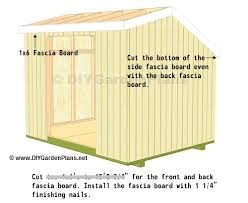 8x10 Saltbox Shed Plans by Fascia And Soffit Saltbox Shed Plans Page 10