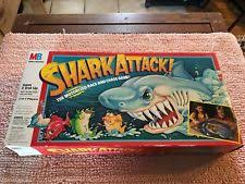Vintage Shark Attack Board Game 1988 By Milton Bradley 4901