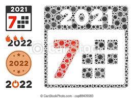 Items Where Year Is 2021 2021 Year 7 Days Icon Mosaic With Coronavirus Items