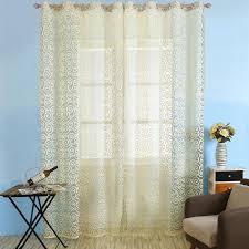 rideau pour chambre a coucher rideaux de fenêtre de porte fleuri panneaux de rideaux transparents