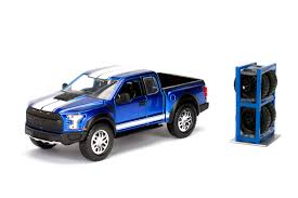100 Just Trucks 124 Scale Die Cast 2017 Ford F150 Raptor In Blue By