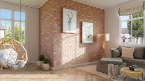 backstein im wohnzimmer weiß grau oder vielleicht rot