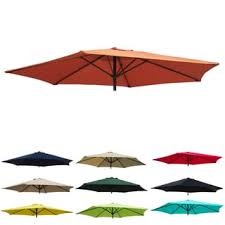 Patio Umbrella Canopy Replacement 6 Ribs 8ft by International Caravan St Kitts 8 Ft Patio Umbrella Free