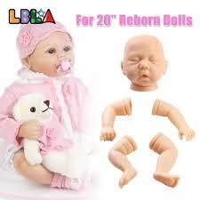 20inch Soft Vinyl DIY Reborn Doll Body Parts Mould Lifelike Sleeping