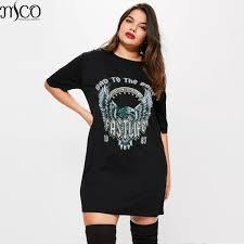 online get cheap oversized t shirt women print dress aliexpress