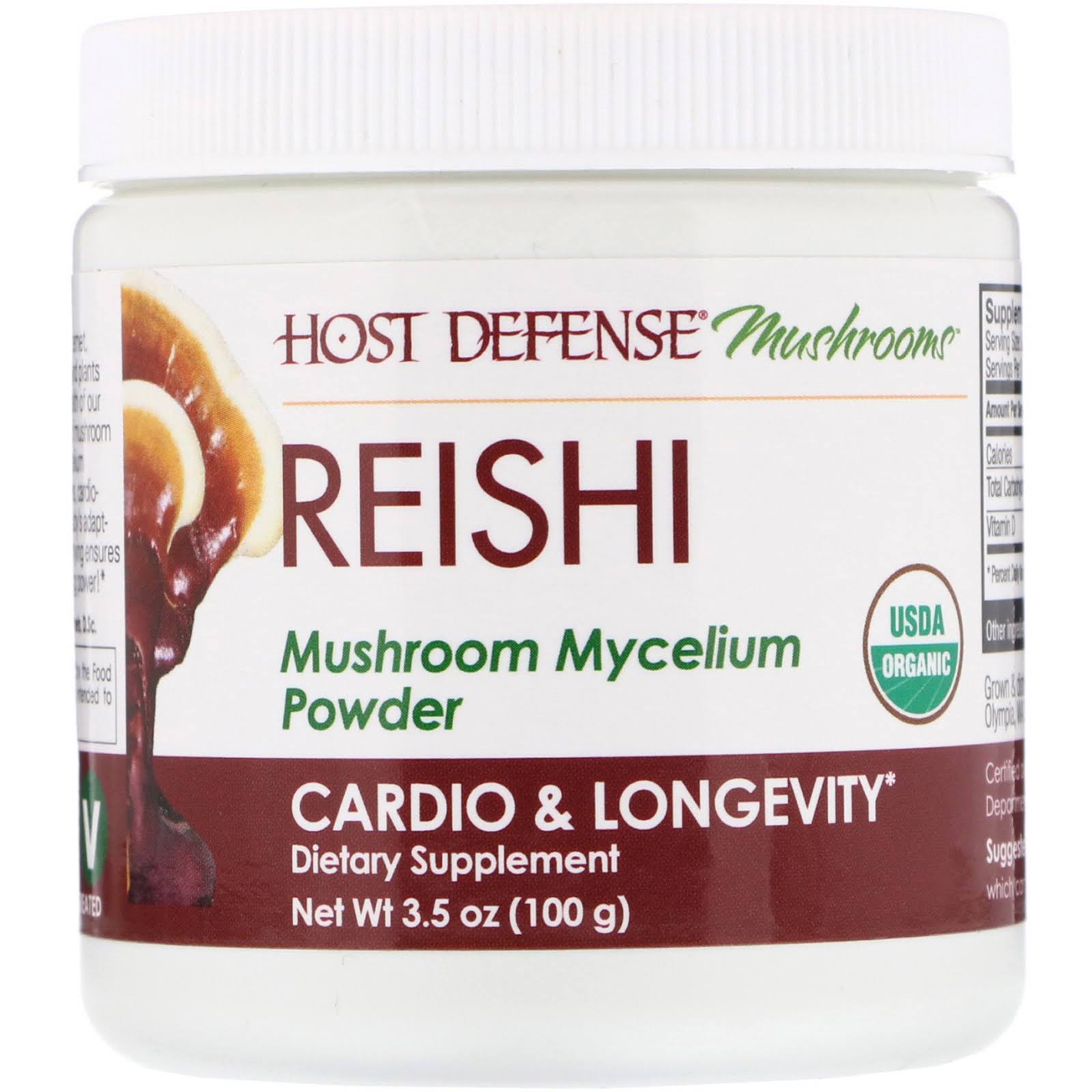 Host Defense Reishi Mushroom Mycelium Powder 3.5oz